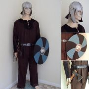 Full Viking Costume Set - 5 Piece